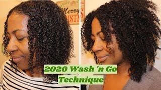 2020 Wash n Go Routine fine natural hair