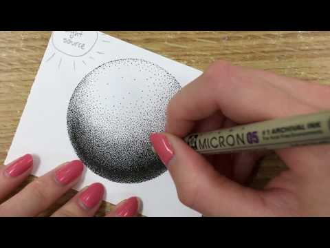 How To Draw Using Dots (Stippling Tutorial) - For Beginners