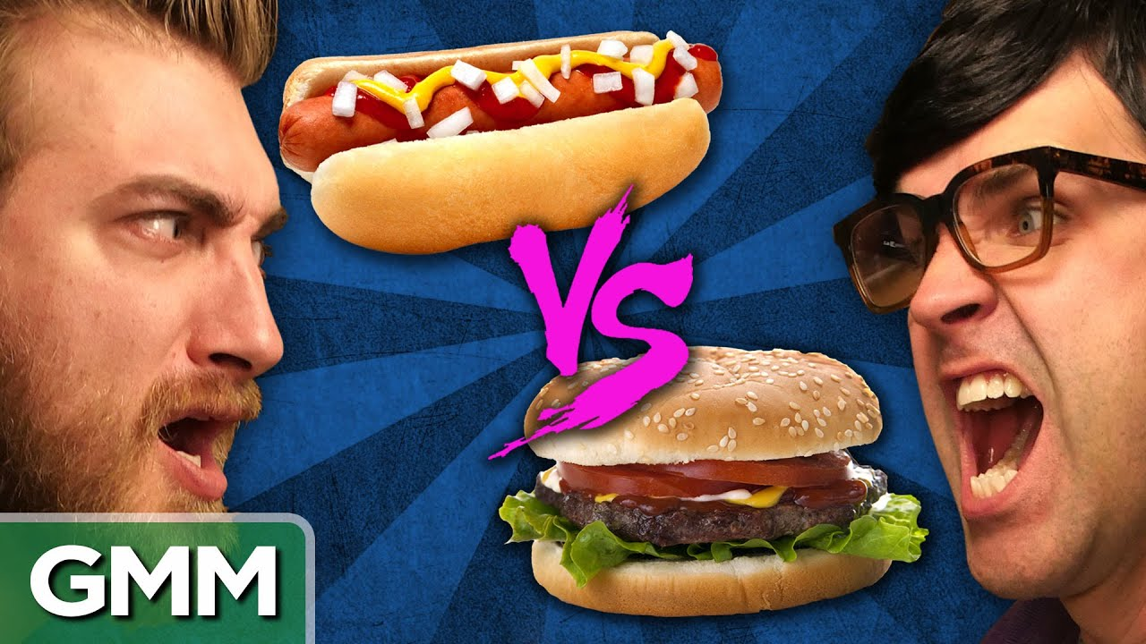 Image result for hamburgers vs. hot dogs you tube