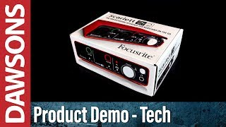 focusrite 2i2 usb audio interface unboxing and features