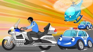 Police Motor bike Chase | Bob Cars Cartoon for kids | Rhymes & Songs for Children