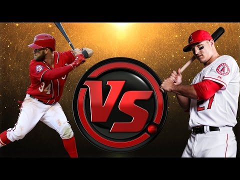 99 BRYCE HARPER VS 99 MIKE TROUT   MLB THE SHOW 16 BATTING COMPETITION CHALLENGE
