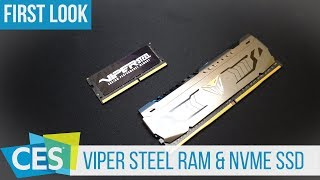 Viper Steel DDR4 RAM, Viper NVMe and M.2 RGB SSD Prototype #CES2019