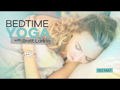 Beginner Nighttime Yoga On The Bed No Mat Needed