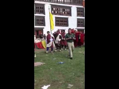 Larry post video of the Thongdrel in Paro Bhutan