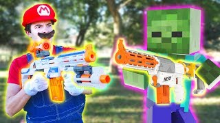 Nerf War: Nerf meets Mario meets Minecraft