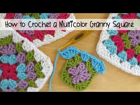 Crocheting Granny Squares On Youtube : ... 112: How to Crochet A Classic Multicolor Granny Square - YouTube