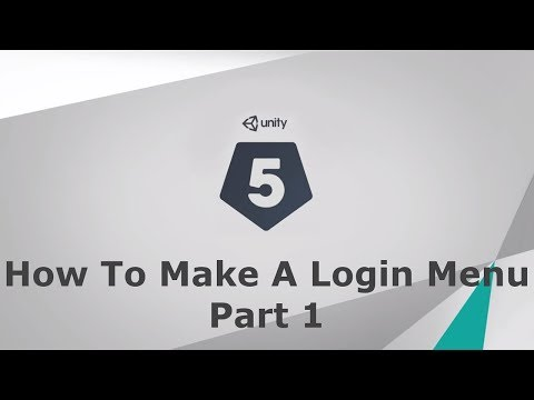 Unity 5 How to make a login menu (For Your Game) Part 1