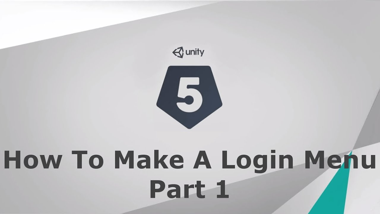 Unity 5 How to make a login menu (For Your Game) Part 1 by MrBuFF
