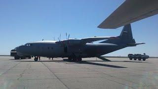 Aviation. Takeoff aircraft AN - 12 .