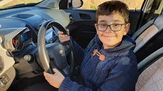 Buğra Gizlice Arabayı Kurcaladı. Eğlenceli Çocuk Videosu