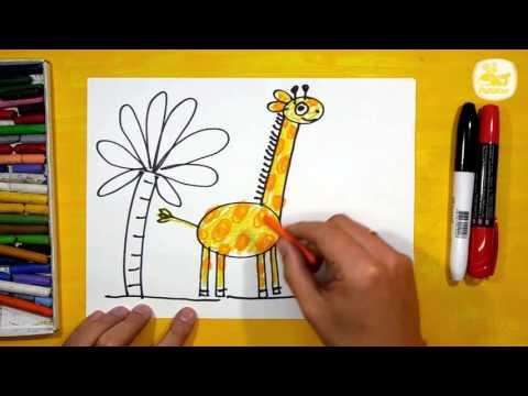 Как нарисовать жирафа для детей 4