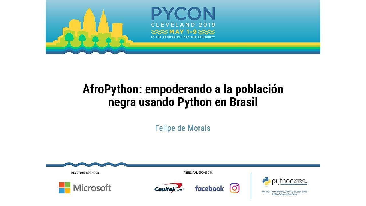 Image from AfroPython: empoderando a la población negra usando Python en Brasil