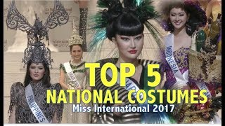 Miss International 2017: TOP 5 NATIONAL COSTUMES - FULL (HD)