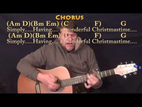 Wonderful Christmastime (Paul McCartney) Strum Guitar Cover Lesson with Chords/Lyrics - Capo 4th