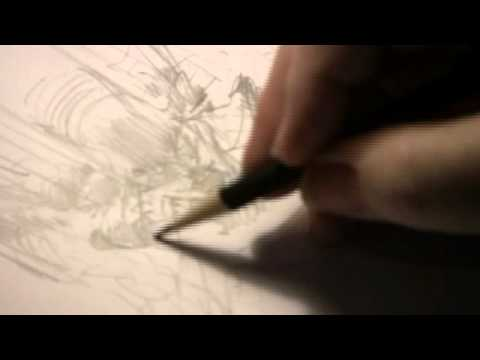 Neal Adams Drawing a Batman Pencil Sketch - YouTube