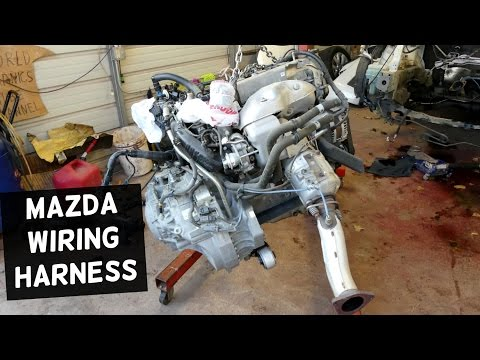 MAZDA ENGINE WIRING HARNESS DISCONNECT REMOVAL REPLACEMENT ENGINE
