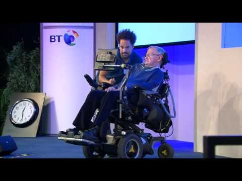 Professor Stephen Hawking speaks at Headway Suffolk's conference