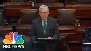 Mitch McConnell Discusses Coronąvirus Relief Plan: 'This Is No Ordinary Time' | NBC News