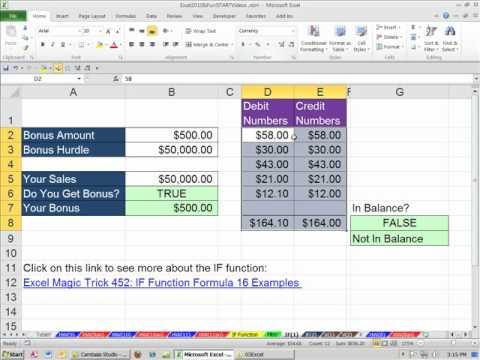 excel formulas pdf with example 2010