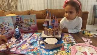 Настольная игра замок принцесс Золушка,Аврора,Ариэль,Белоснежка,Белль.Видео для детей.