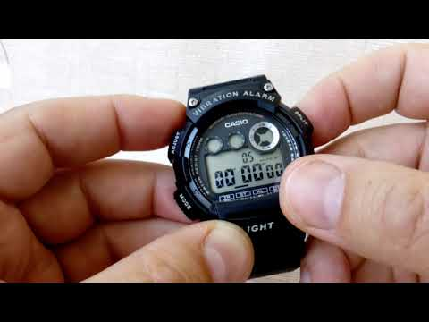CASIO W-735H-1A ВИБРОСИГНАЛ!!!  / CASIO Vibration SIGNAL W-735H-1A