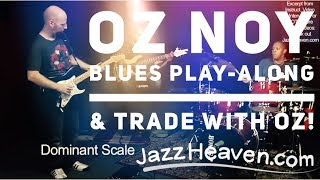 Blues Guitar PLAY-ALONG & Trading with OZ NOY - JazzHeaven.com Video Excerpt