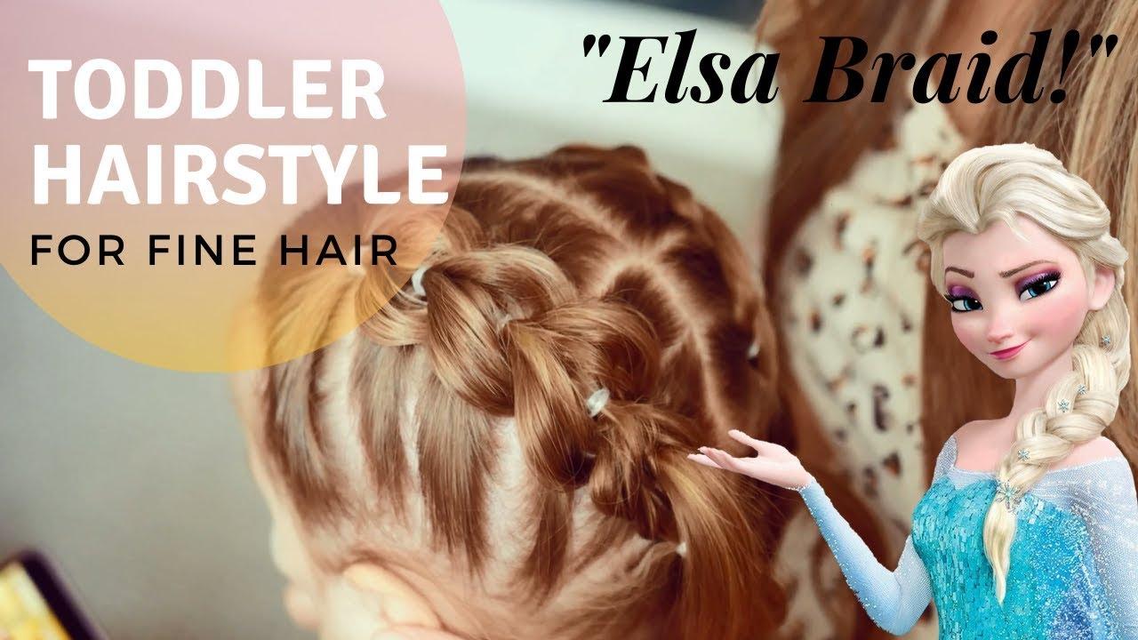 Toddler Hairstyles for Fine Hair   ELSA BRAID   Part 15