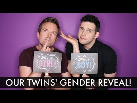 Twin Gender Reveal!!! - Gay Dads & Twins IVF Surrogacy Journey /// McHusbands
