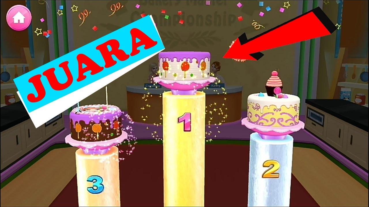 Permainan Barbie Memasak Kue Ulang Tahun Perlombaan Memasak Youtube