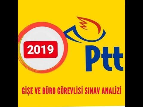 PTT Gişe ve Büro Görevlisi Sınav Analizi 2019 #YalçınŞakar