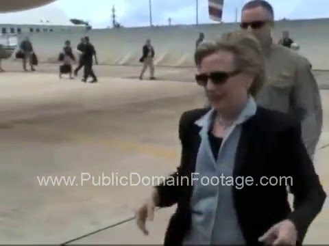 Secretary of State Hillary Clinton Arrives in Haiti after earthquake archival footage 2010