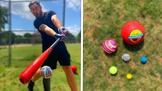 How Far Can I Hit These Balls (PART 2) IRL Baseball Challenge