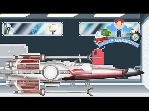 vaisseau spatial star wars pipo et sa d panneuse dessin anim en fran ais comme minecraft. Black Bedroom Furniture Sets. Home Design Ideas