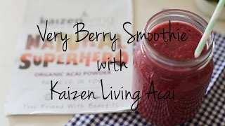 Very Berry Smoothie - Kaizen Living Acai Powder