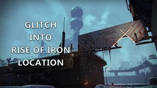 """Destiny Glitches - """"NEW"""" GLITCHING INTO A RISE OF IRON LOCATION! GLITCHING OUT OF THE MAP!"""