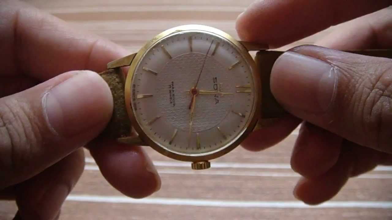 yellow vintage pin watch golden collectible hmt quartz sona dial sgl case watches
