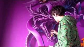 Аэрография, рисую дракона(нарисовал в комнате дракона., 2012-02-15T17:18:46.000Z)