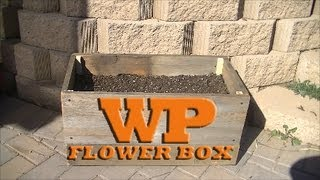 How To Make A Flower Box From Old Fence Boards