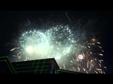 Фейерверк на Красной поляне  Fireworks at Krasnaya Polyana