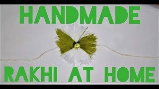 Handmade Rakhi at Home || DIY Rakhi || Sr! Laxm!
