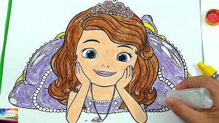 video infantil/princesinha sofia / vídeo da princesinha sofia / como pintar a princesa sofia