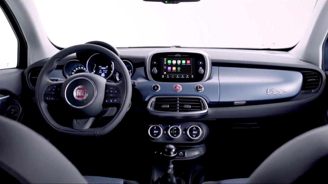 the new fiat 500l and 500x mirror apple carplay youtube. Black Bedroom Furniture Sets. Home Design Ideas