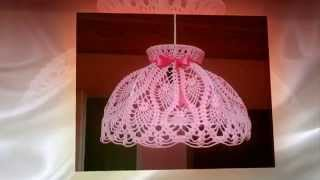 Абажуры крючком. Crochet Lampshade.