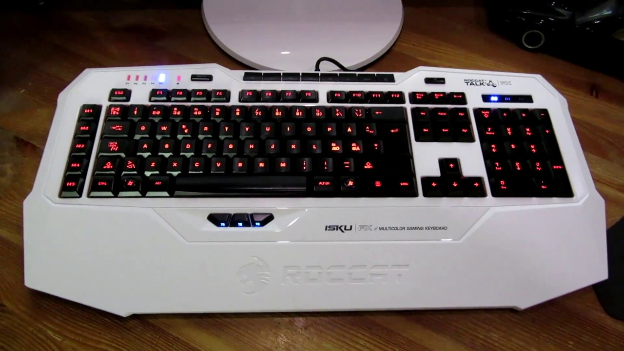 ROCCAT's Isku FX keyboard lights up with the game