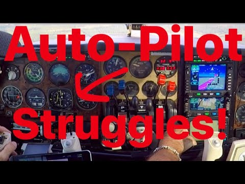Autopilot Struggles To Keep Up On Approach