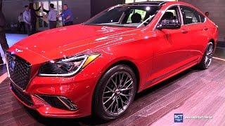 2017 Genesis G80 Sport Exterior and Interior Walkaround 2016 LA Auto Show