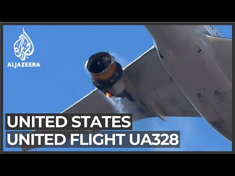 US flight UA328 lands safely in Denver following engine failure