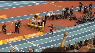 mo farah 2 mile world record final lap feb 2015