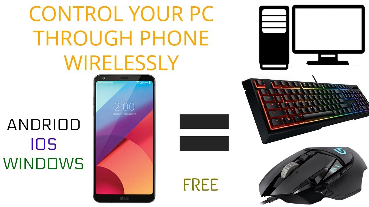 How to use your iphone as a keyboard, mouse or trackpad for pc.